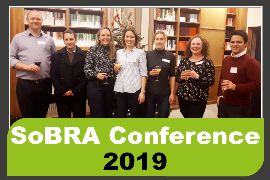 Fiona Townley, Lucy Thomas, Jo Wilding, Frances Gregory and Andy Fellows from the RSK Group and David Holmes from Ecologia at the SoBRA conference