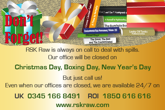 RSK Raw opening hours over the Christmas period 2019