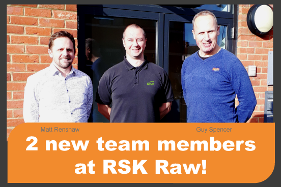 New Senior staff at RSK Raw. Matt Renshaw and Guy Spencer are welcomed by Ruaraidh McKinnon.